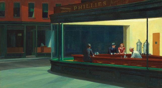 Edward Hopper (1882–1967) Nighthawks, 1942.