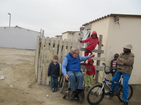 John Hockenberry, host of The Takeaway, in southern Africa.