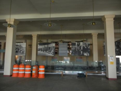 The baggage exhibit, which was what visitors first saw when entering the museum, is now empty.