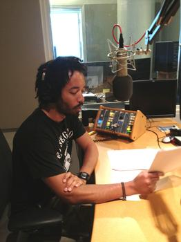 Wyatt Cenac in the studio
