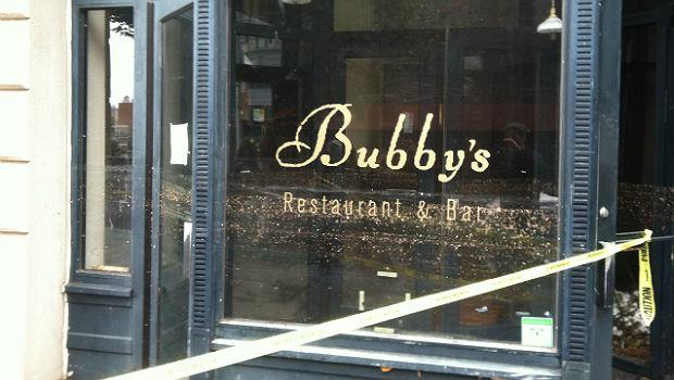 The floodwaters from Hurricane Sandy left their mark on Bubby's, the restaurant in Dumbo