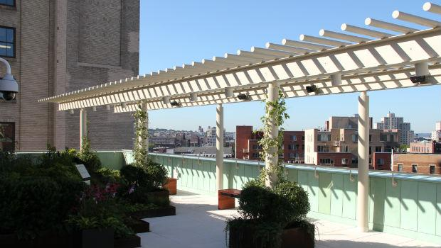 The rooftop terrace at the Richard B. Fisher Building