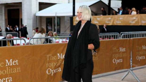 Singer Sia Furler arrives on the red carpet at the Metropolitan Opera's opening night