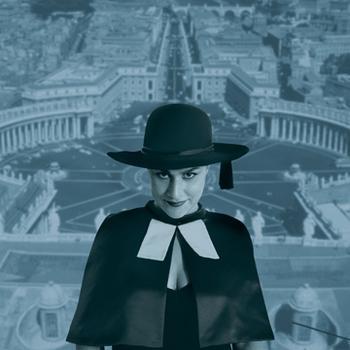 A peek-a-boo prelate