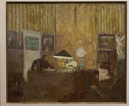 Vuillard could reduce a scene to a composition of color and lines. Seen here: 'Thadée Natanson at His Desk,' from 1899.