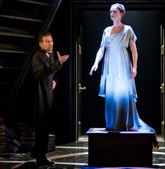 """In """"The Winter's Tale,"""" Greg Hicks plays Leontes and Kelly Hunter plays Hermione."""