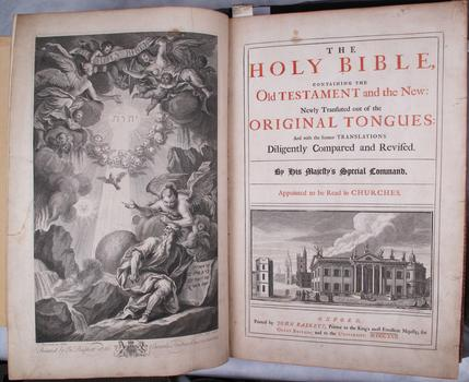 Bible with Apocrypha; Oxford: John Baskett, 1717-16