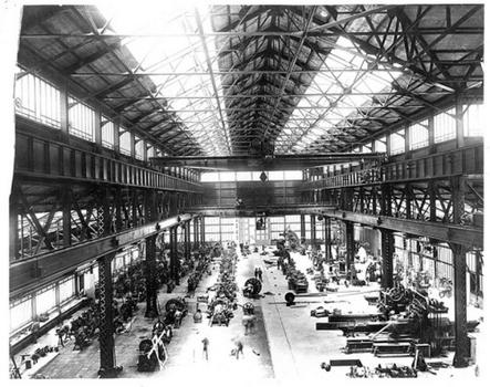 Building 128, pre-World War II, was a machine shop that built ship engines.