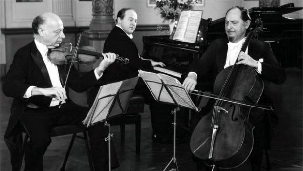 Greenhouse performing with The Beaux Arts Trio in the early 1980s