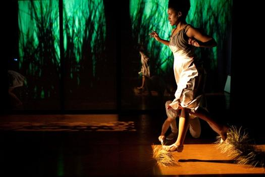 "Peter Flaherty and Jennie MaryTai Liu's multimedia dance theater work, ""Soul Leaves Her Body"" was developed at the HERE Artist-in-Residency Program (HARP) in 2010."