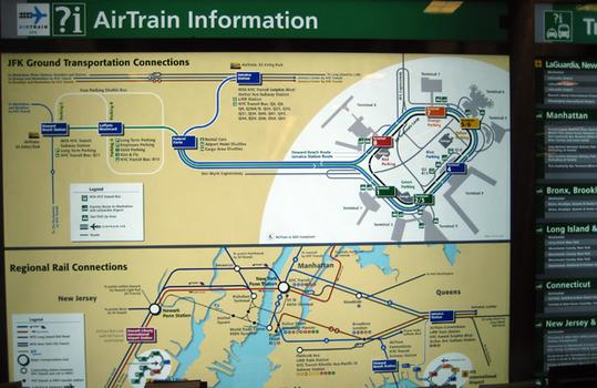 Passengers have trouble deciphering the AirTrain signs