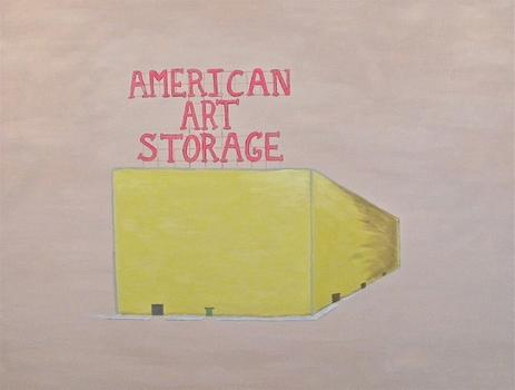 The wry L.A. conceptualist Joe Sola will be having a solo exhibit of his paintings -- which includes 'American Art Storage,' above -- at the Blackston Gallery on the Lower East Side.