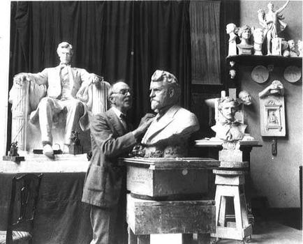 Sculptor Daniel Chester French at Chesterwood, his Massachusetts studio.