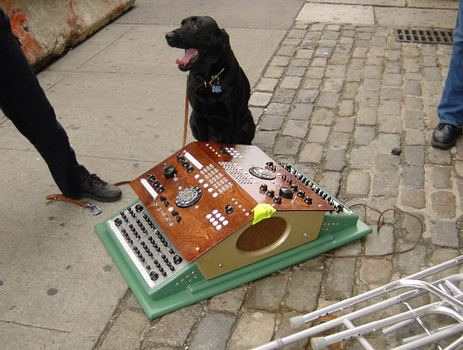 Charley, the bomb sniffing dog, gives his approval to the Dual Primate Console.