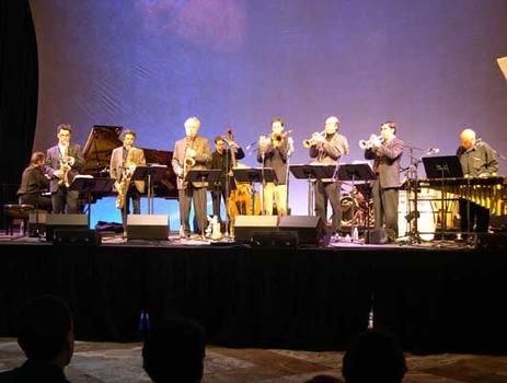<strong>The Either/Orchestra and (far R) Mulatu Astatqe.  World Financial Center, 11/12/04.</strong>