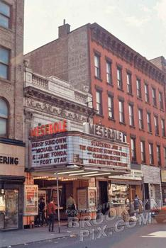 The Meserole Theater, back when it used to give out free dinner plates on Mondays and Tuesdays.