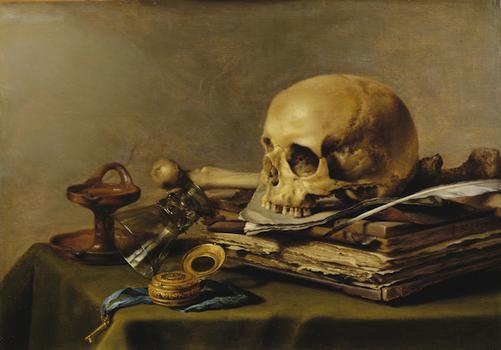 Pieter Claesz Vanitas. Still Life, 1630.