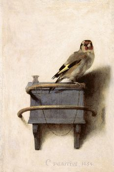 Carel Fabritius (1622–1654). The Goldfinch, 1654.