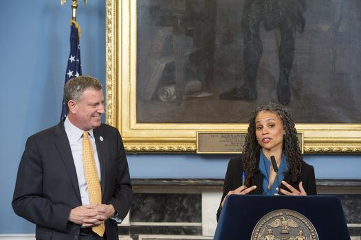 Maya Wiley, counsel to Mayor de Blasio, at City Hall