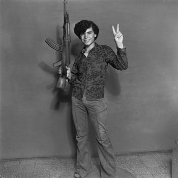 Akram Zaatari, <em>Hashem El Madani—Palestinian  resistant, Studio Shehrazade, Saïda</em>, Lebanon, 1970– 72
