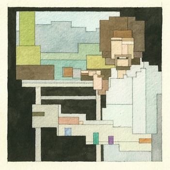 Adam Lister reimagines pop culture figures and works of fine art through an 8-bit-inspired lens.