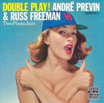 "Previn and Russ Freeman teamed up with drummer Shelly Manne in a trio to play eight of their originals (along with ""Take Me Out to the Ball Game""),"