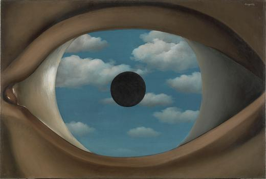 René Magritte (Belgium, 1898-1967). Le faux miroir (The False Mirror). 1929.