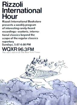 An ad for the WQXR's Rizzoli International Hour on WQXR in 1969