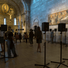 "Janet Cardiff's ""The Forty Part Motet"" installed at the The Met Museum's Cloisters in New York City"