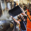 Sharif Taleb of Yonkers Brewing Co. at work.