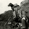 Edvard Grieg exploring the Norwegian fjords on a day out with his Chocolate Labrador.