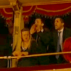 Members of the audience react to the opening of La Scala's 2013-14 season