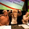 Robert Krulwich, Jad Abumrad, and Shrewdinger at Radiolab Live Apocalyptical