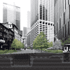 A rendering of an ecological infrastructure intended to protect New York City shorelines from floodwaters