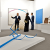Art Basel visitors browsing works from Annely Juda Fine Art, London