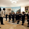 Students from Orchard Gardens K-8 Pilot School in Boston perform Martin Luther King Jr.'s 'I Have A Dream' speech for President Obama in the White House