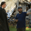 Actor Benjamin Walker and director Timur Bekmambetov on the set of Abraham Lincoln: Vampire Hunter