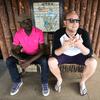 Left to right: Esau Mwamwaya and Johan Hugo of The Very Best