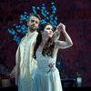 Daniel Teadt as Orpheus and Joélle Harvey as Eurydice in Telemann's 'Orpheus' at New York City Opera