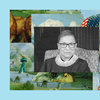 Justice Ruth Bader Ginsburg's official portrait, set inside The Experiment's episode art frame