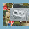 """A clear package of mystery seeds with a """"Made in China"""" label. The image is set into a frame featuring The Experiment's show art."""
