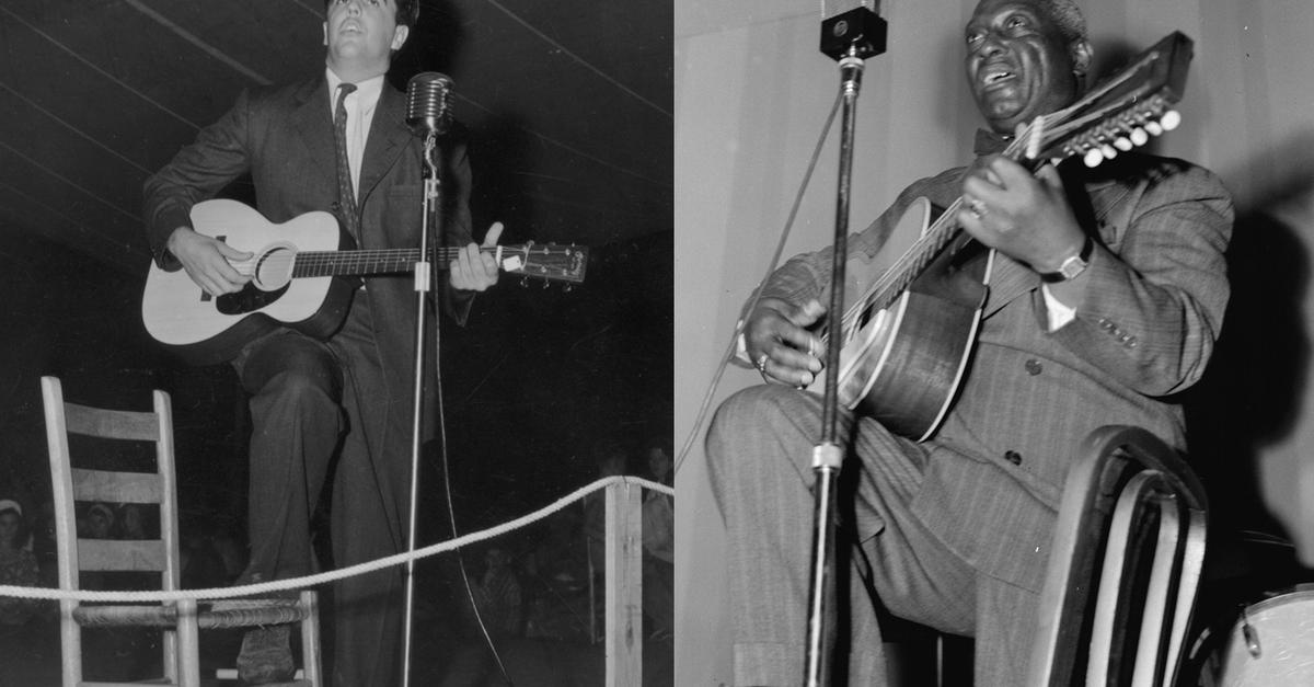 Leadbelly and Lomax Together at the American Music Festival | Annotations: The NEH Preservation Project | WNYC