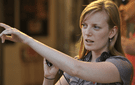 Director Sarah Polley on the set of her film Take This Waltz