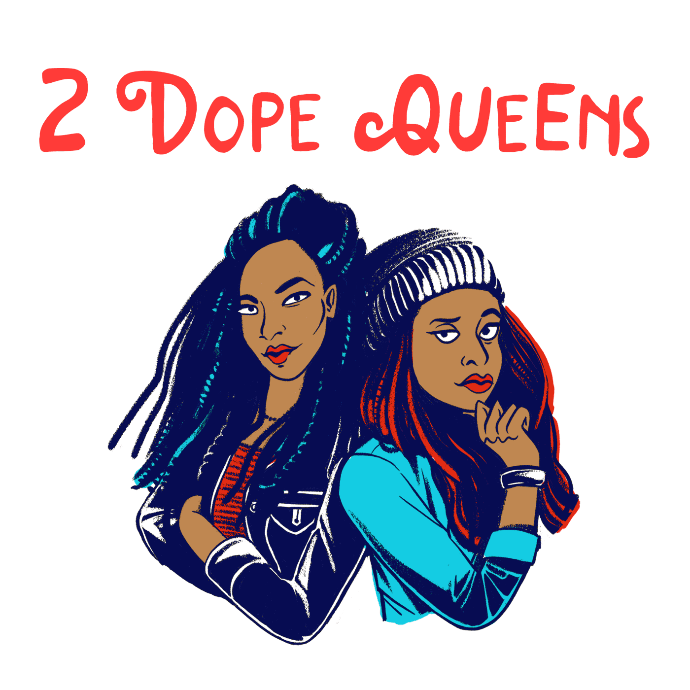 Image result for 2 dope queens podcast