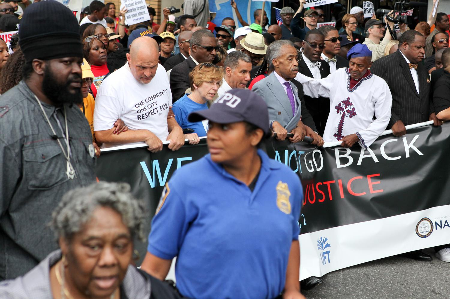 be643dc1d7f Rev Al Sharpton and others marching through Staten Island on Saturday Aug 23 2014..jpg