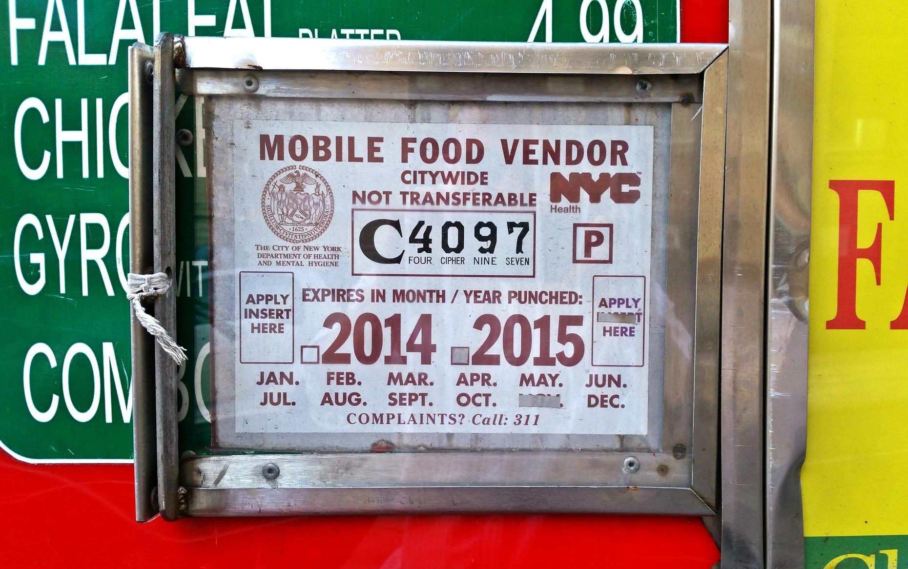Food Truck Vendor Permits