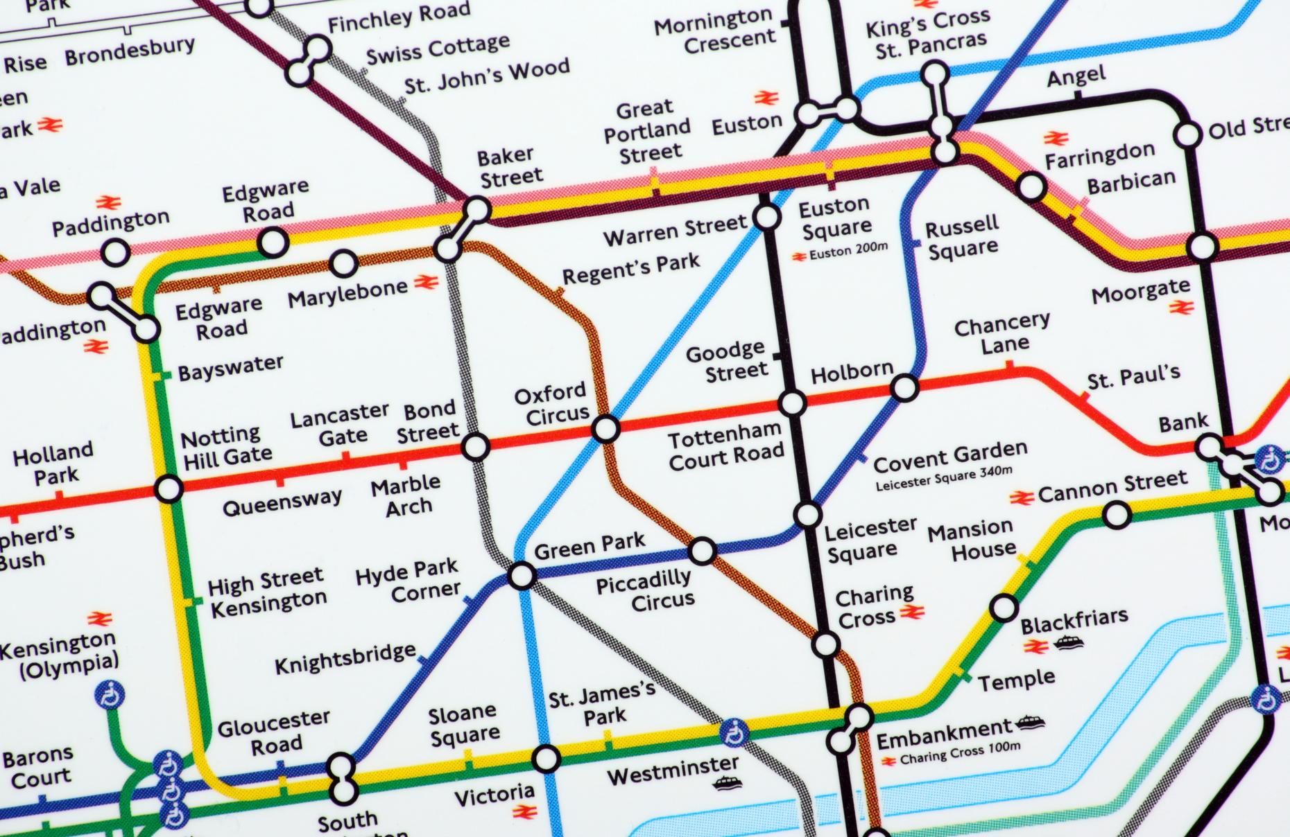 Street Map Of London With Tube Stations.London S 12 Most Musical Tube Stations Soundcheck New Sounds