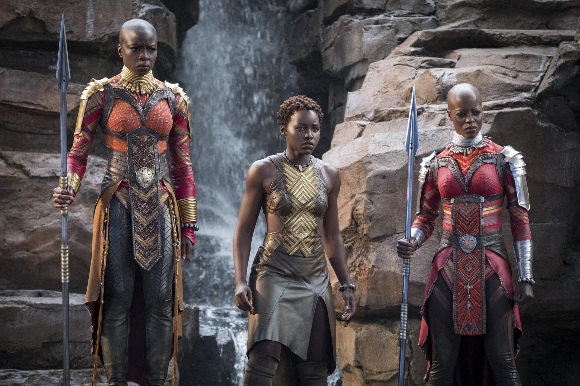 Three armor clad women from Wakanda