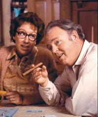 Jean Stapleton and Carroll O'Connor in 'All In The Family'