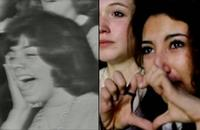 A Beatles fan at the band's 1964 Ed Sullivan Show appearance and a fan in the 2013 film Justin Bieber's Believe